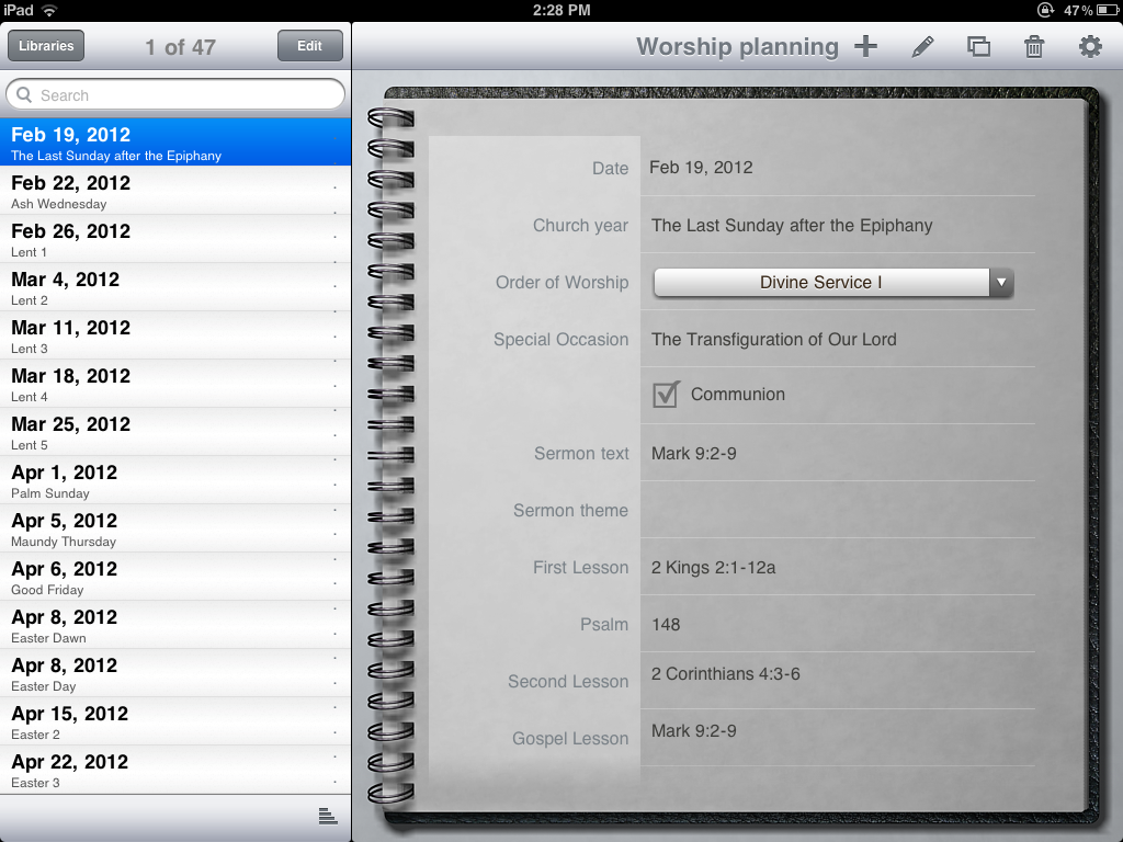 Sermon preparation with an iPad | iPad in Ministry